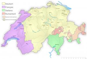 Carte des langues en Suisse