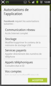 Exemple d'une application demandant beaucoup (trop ?) d'autorisations.