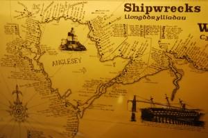 Carte des naufrages au Pays de Galles