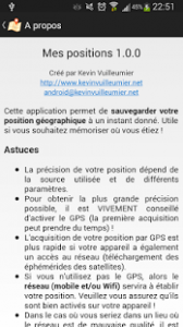 Informations sur l'application
