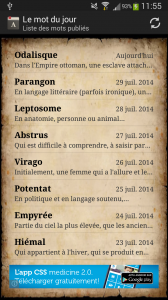 Interface principale de la version 1.1.0